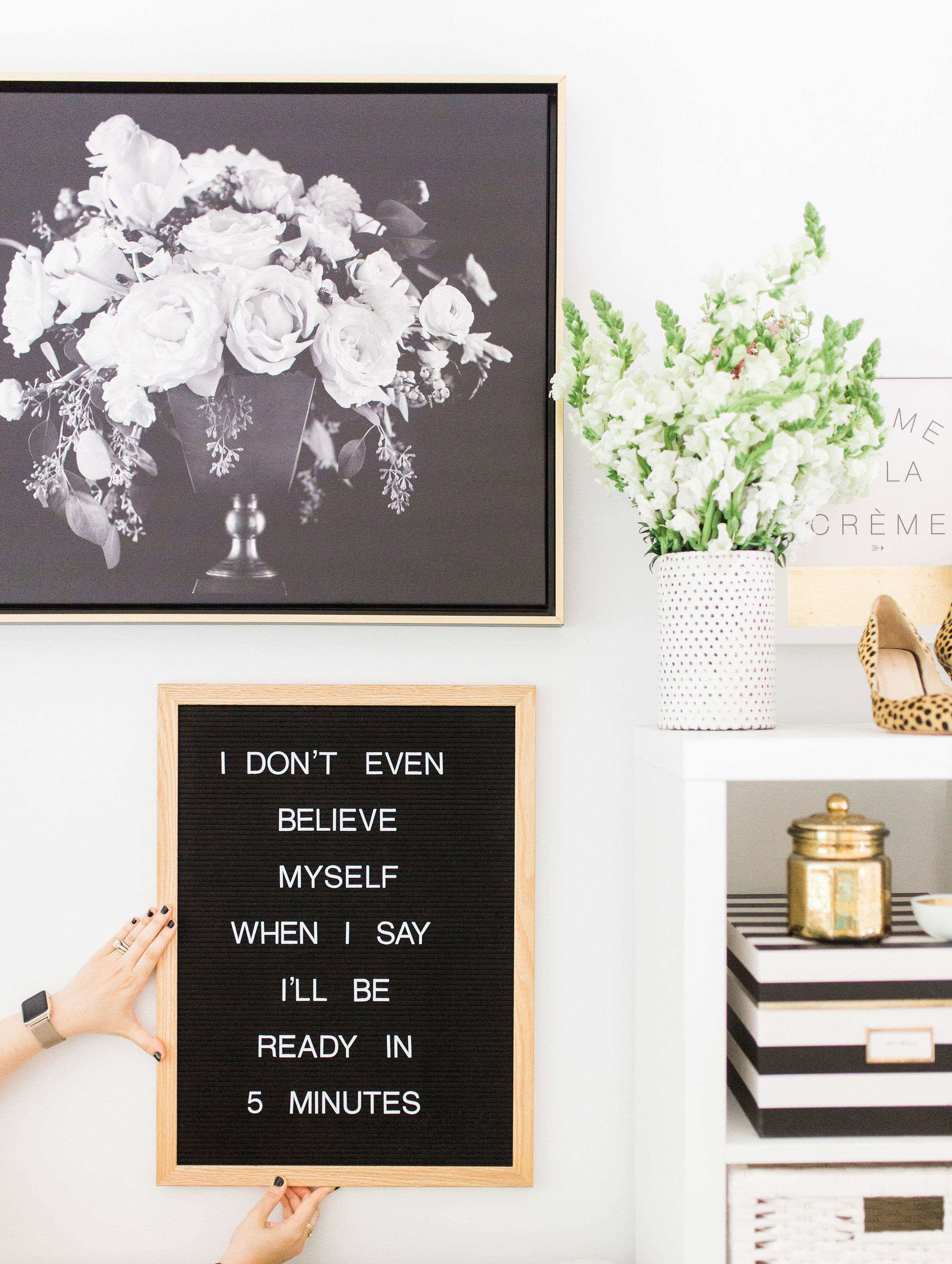 Lifestyle blogger Lexi of Glitter, Inc. shares a few little love notes to the things she loved most this week, including her favorite letter board, the science behind staying forever young, Trader Joes secrets, homemade fig newtons, and weekend plans. // Ready in Five Minutes Funny Quote | glitterinc.com | @glitterinc