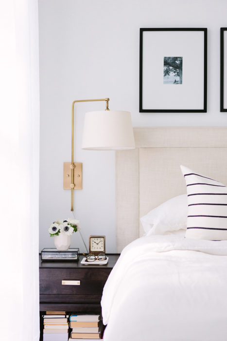 Bedroom Nightstand and Sconce