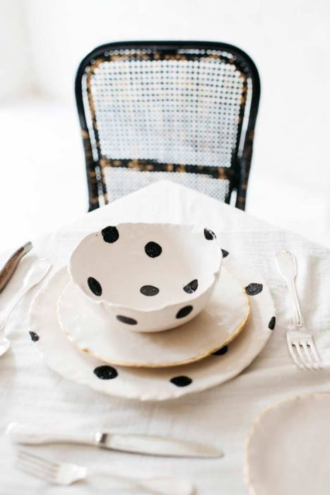 Dotted Dishware