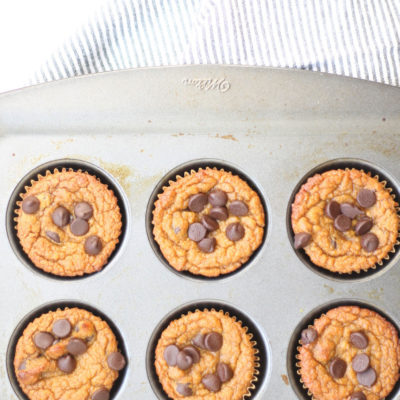Healthy Sweet Potato Chocolate Chip Muffins
