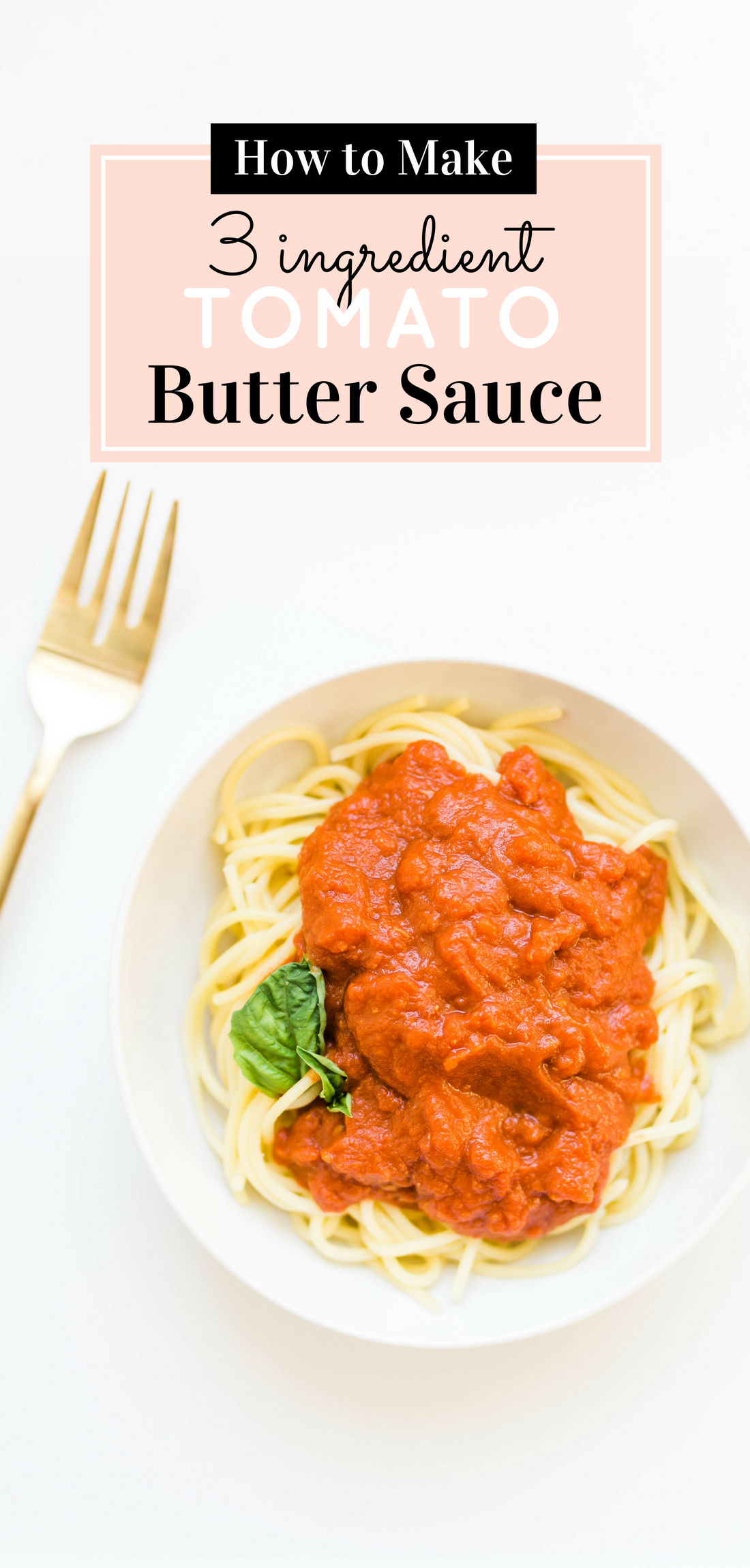 This delicious 3-ingredient tomato butter sauce, the one chefs and food bloggers alike adore, is unbelievably simple to make, produces a velvety rich sauce, and will become a staple in your kitchen. Click through for the recipe. #pastasauce #tomatosauce #sanmarzano #italiancooking #dinner #dinnerrecipe #easydinner #easytomatosauce #easypastasauce #recipe | glitterinc.com | @glitterinc