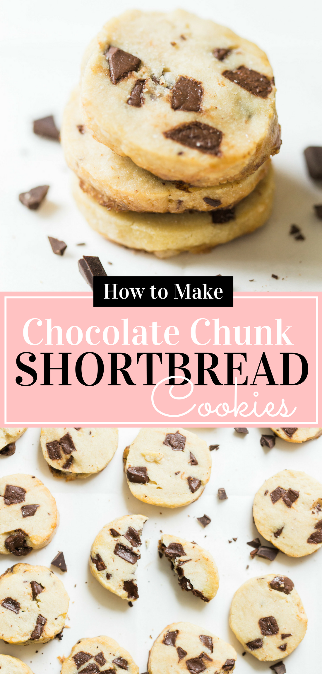 Looking for a crazy amazing cookie #recipe? You HAVE to make the super famous salted butter chocolate chunk shortbread cookies from Alyson Roman that are blowing up Instagram these days ... and I'm showing you how! #shortbreadcookies #chocolatechunkshortbreadcookies #cookies #cookierecipe | glitterinc.com | @glitterinc