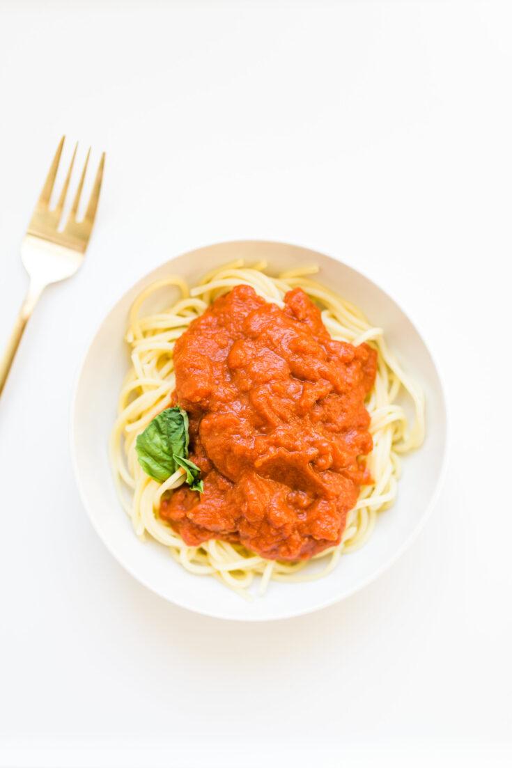 3-Ingredient Tomato Butter Pasta Sauce