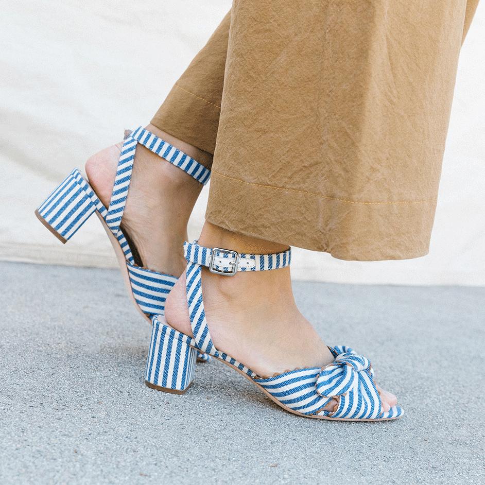 Loeffler Randall Jill Knotted Block Heel Sandals