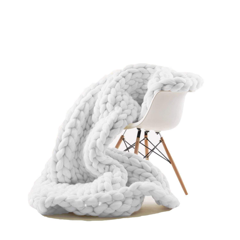 Chunky Knit Oversized Blanket on Amazon