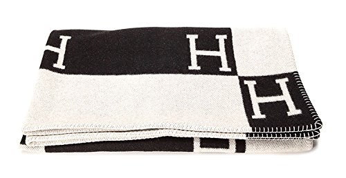 Initial Letter H Cashmere Knitted Throw Blanket on Amazon