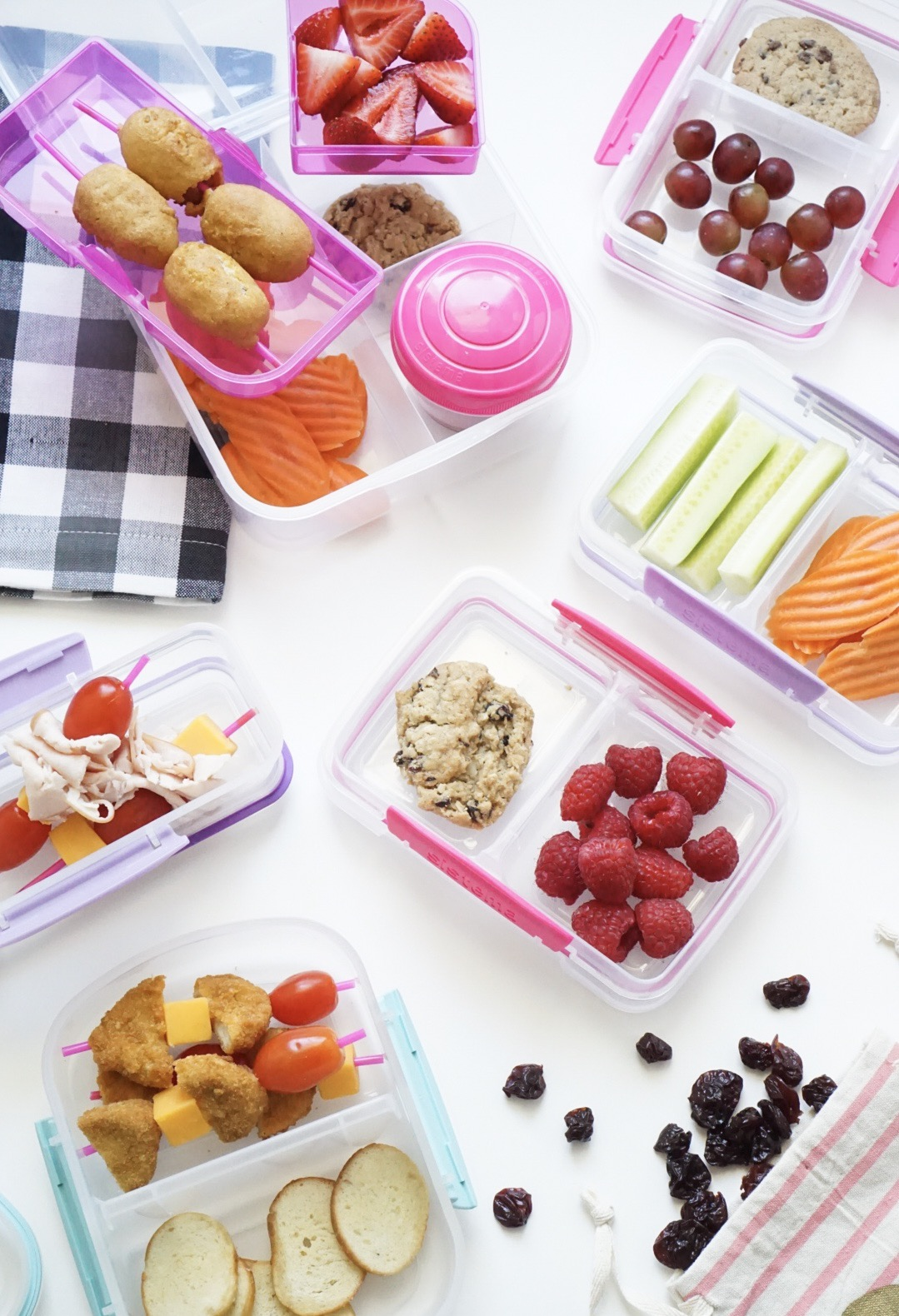 20 lunch ideas your kids will actually eat! (That aren't sandwiches!) Plus, how to meal prep school lunch for a stress-free week with a free printable. #schoollunch #bentolunch #mealprep #lunchmealprep #lunchboxmeals Click through for the details. | glitterinc.com | @glitterinca