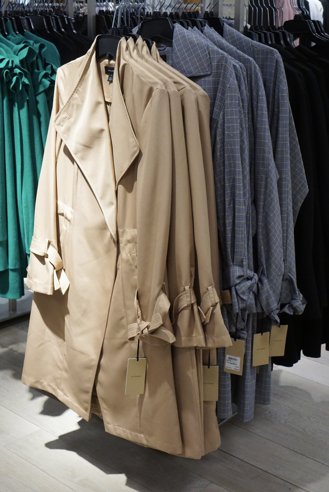Halogen Tie Sleeve Trench Coats