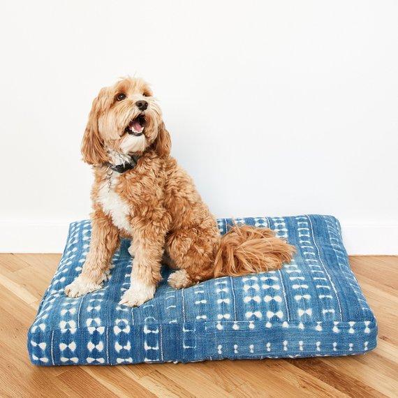 Indigo Shibori Pet Bed - weekly finds