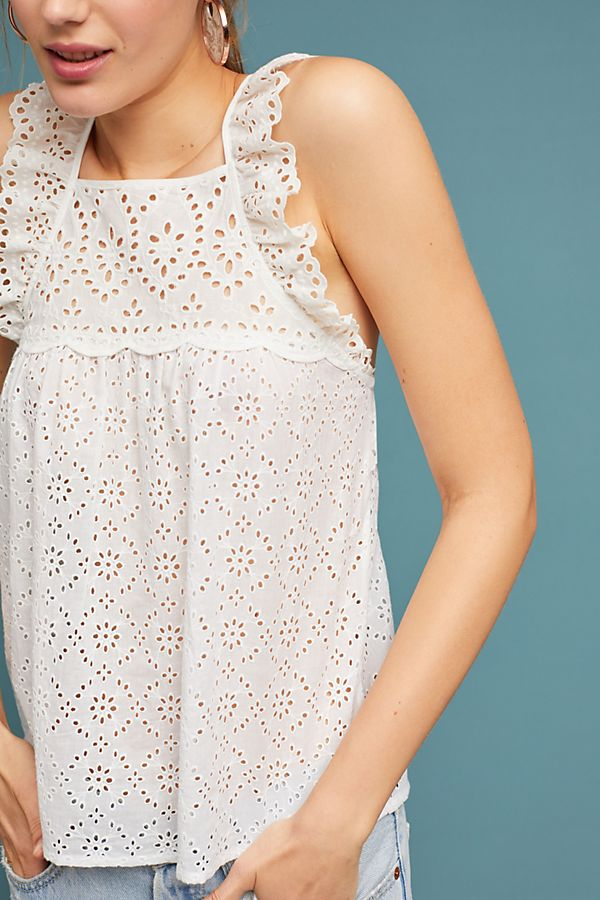 Anthropologie Leona Eyelet Top