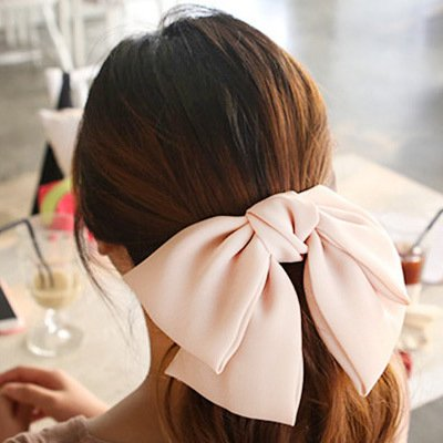 Oversized Light Pink Chiffon Bow (Snag it on Amazon!)