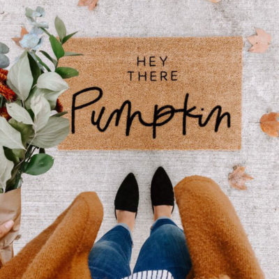 hey there pumpkin | hello welcome mat