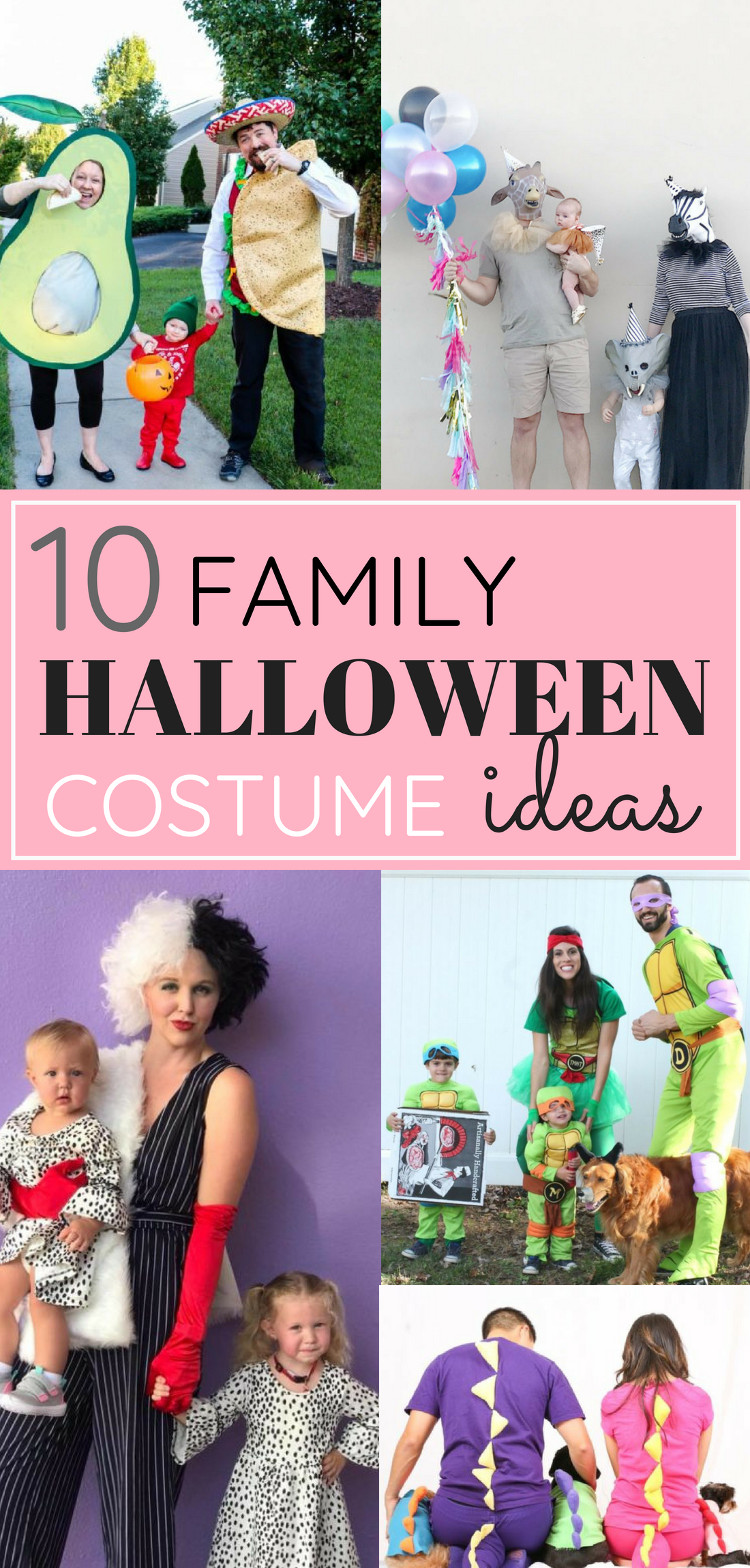 Looking for the perfect family costume? 10 bloggers share their favorite adorably awesome Halloween costumes for families, kids, babies, even pets. Click through for plenty of fun DIY costumes for the whole family. #halloween #halloweencostumeideas #familyhalloweencostume #familyhalloweencostumeideas #diycostumes #diyhalloween | glitterinc.com | @glitterinc