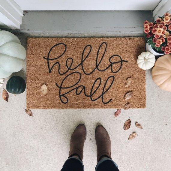 Hello Fall Welcome Doormat