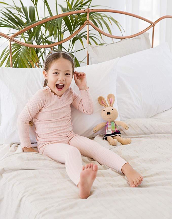 Vaenait baby 12M-7T Baby Kids Girls Boys Unisex Soft Comfy Modal Tencel Shirring Sleepwear Pajamas
