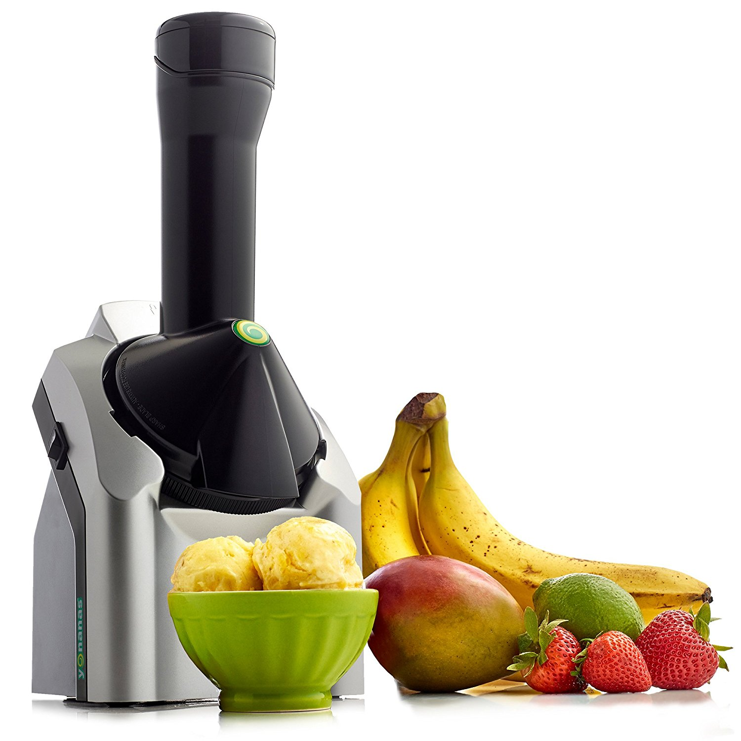 Yonanas 902 Classic Original Healthy Dessert Fruit Soft Serve Maker Creates Fast Easy Delicious Dairy Free Vegan Alternatives to Ice Cream Frozen Yogurt Sorbet Includes Recipe Book