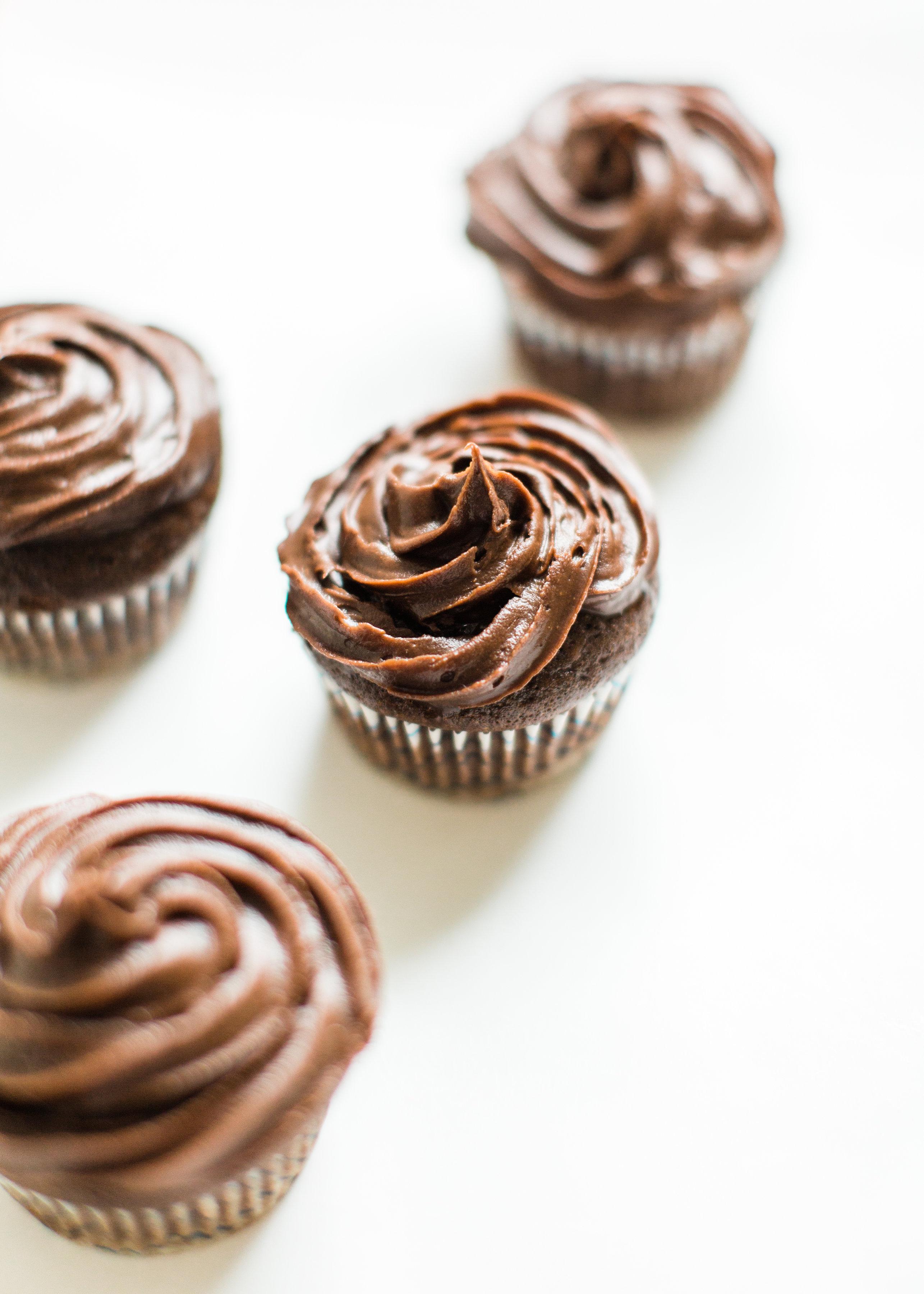 Classic Crazy Cake Chocolate Cupcakes