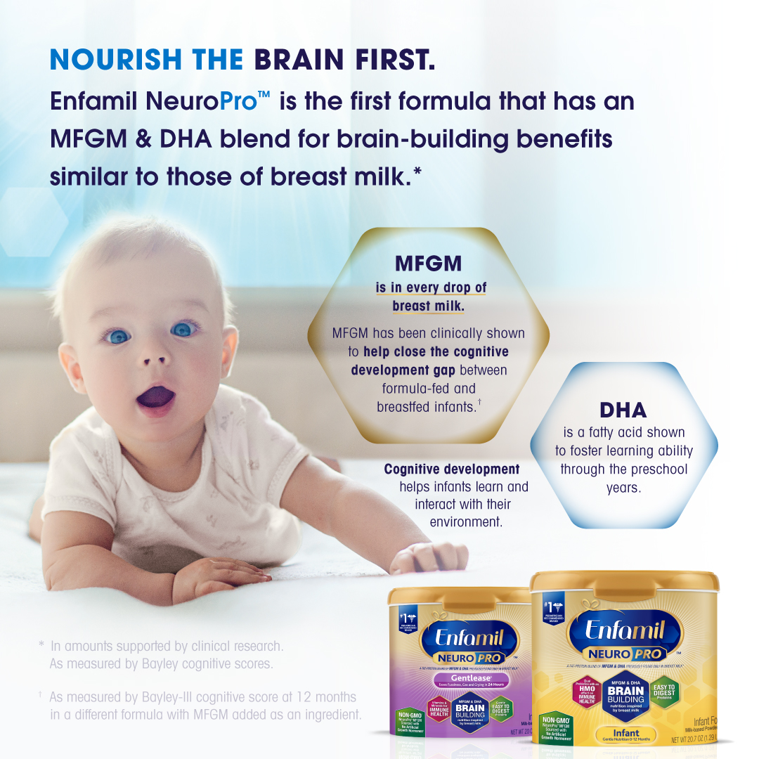 We've long-trusted Enfamil NeuroPro™ formula for our baby. #baby #sippycup #bottle | glitterinc.com | @glitterinc