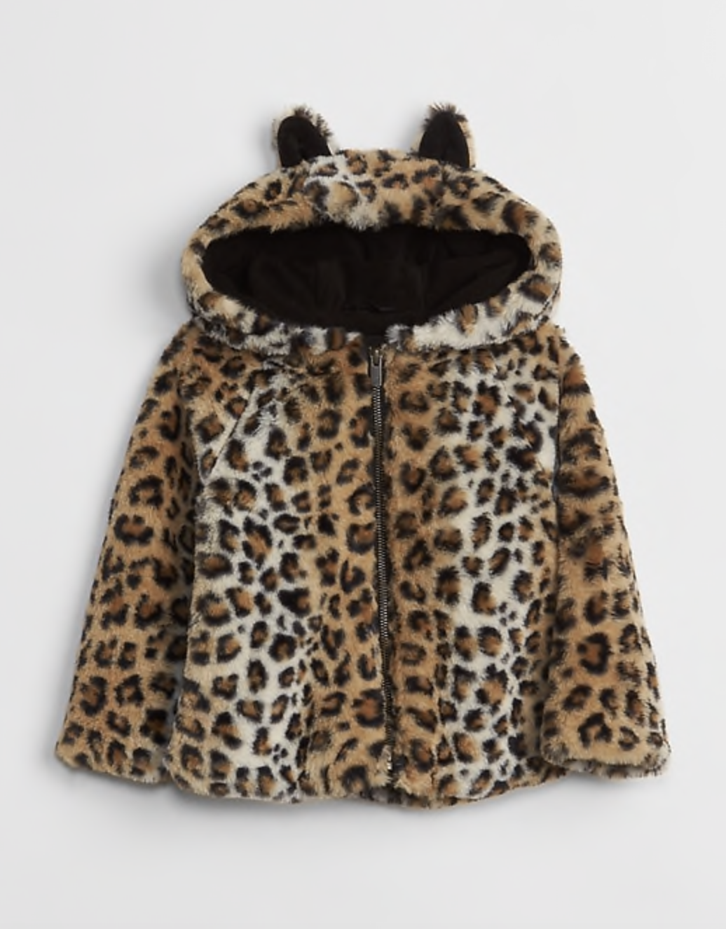 Gap Kids Leopard Faux-Fur Coat