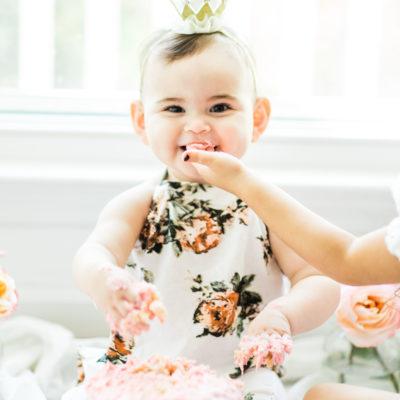 Emmeline's First Birthday Cake Smash + Vanilla Crazy Cake Recipe