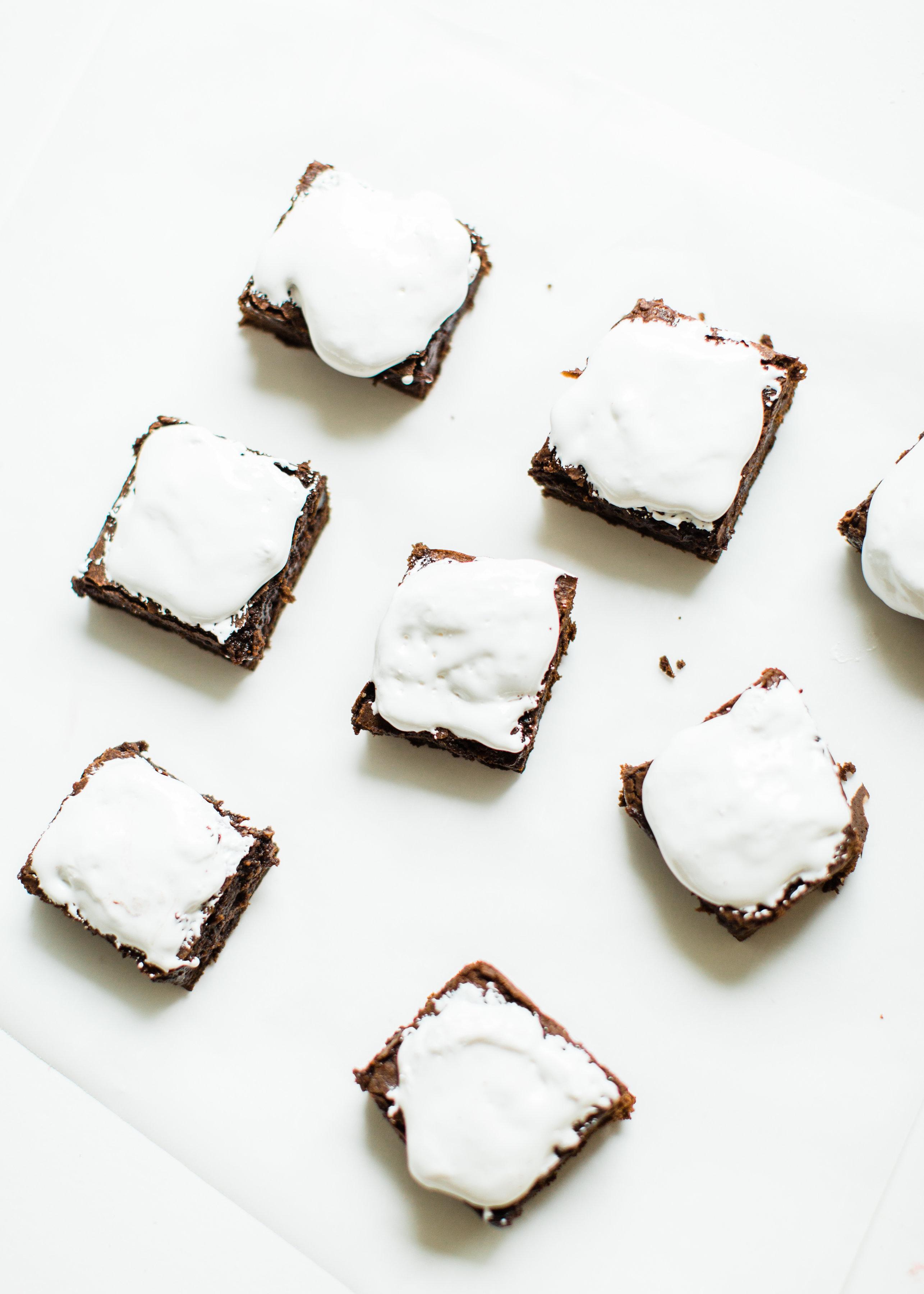 Fudgy Brownies #halloweendesserts | glitterinc.com | @glitterinc