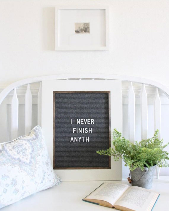"16""x20'' Modern Farmhouse Felt Letterboard Quote Sign"