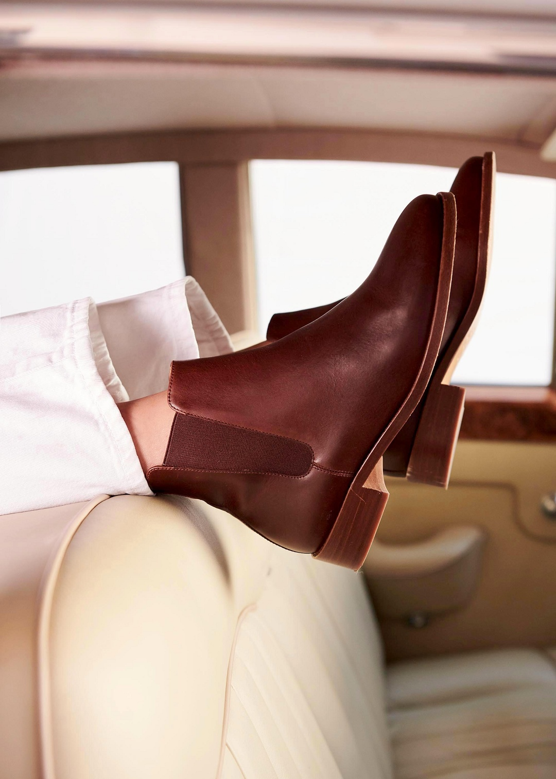 Sézane Low Henry Boots