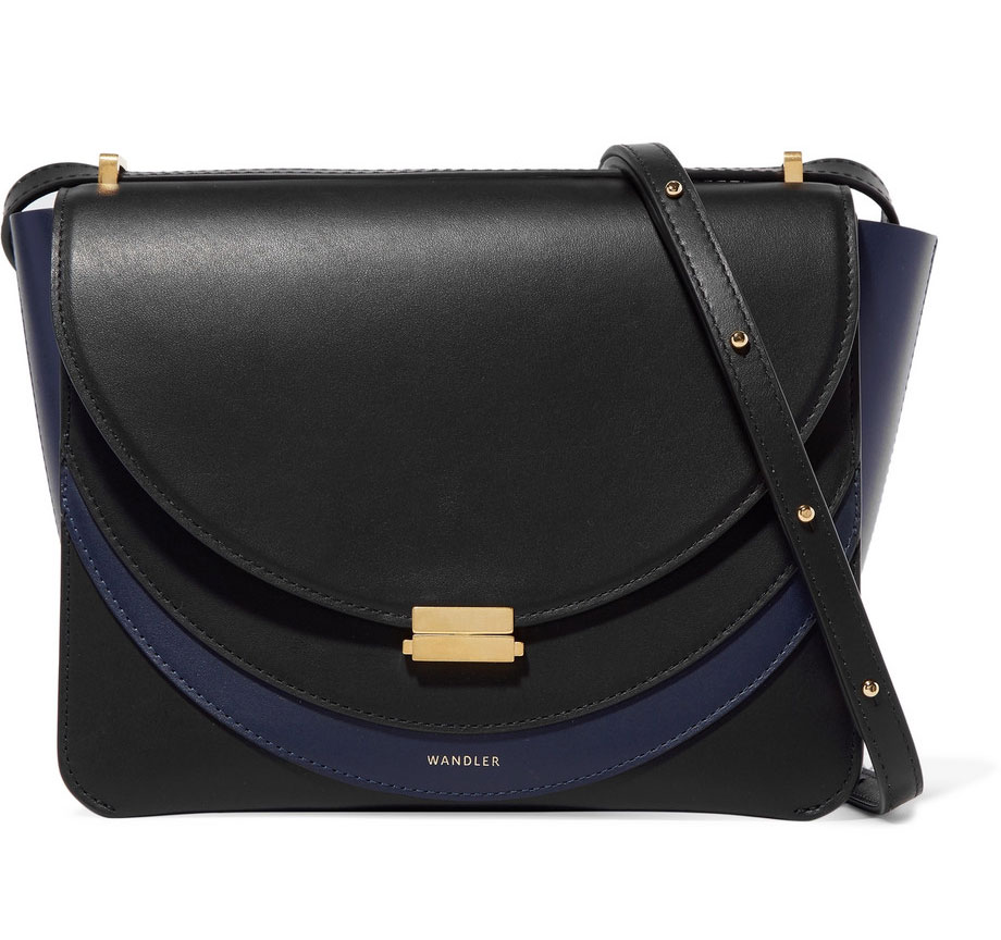 WANDLER Luna Color-block Leather Shoulder Bag