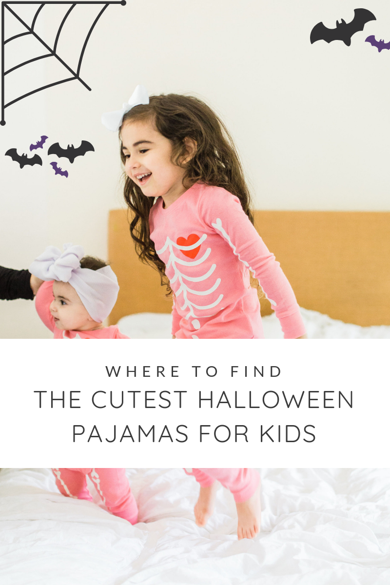 THE CUTEST HALLOWEEN PAJAMAS #halloweenpajamas #halloweenideas #halloweentraditions #familyhalloween #kidshalloween #kidshalloweenfun #kidshalloweenpajamas #babyhalloween | glitterinc.com | @glitterinc