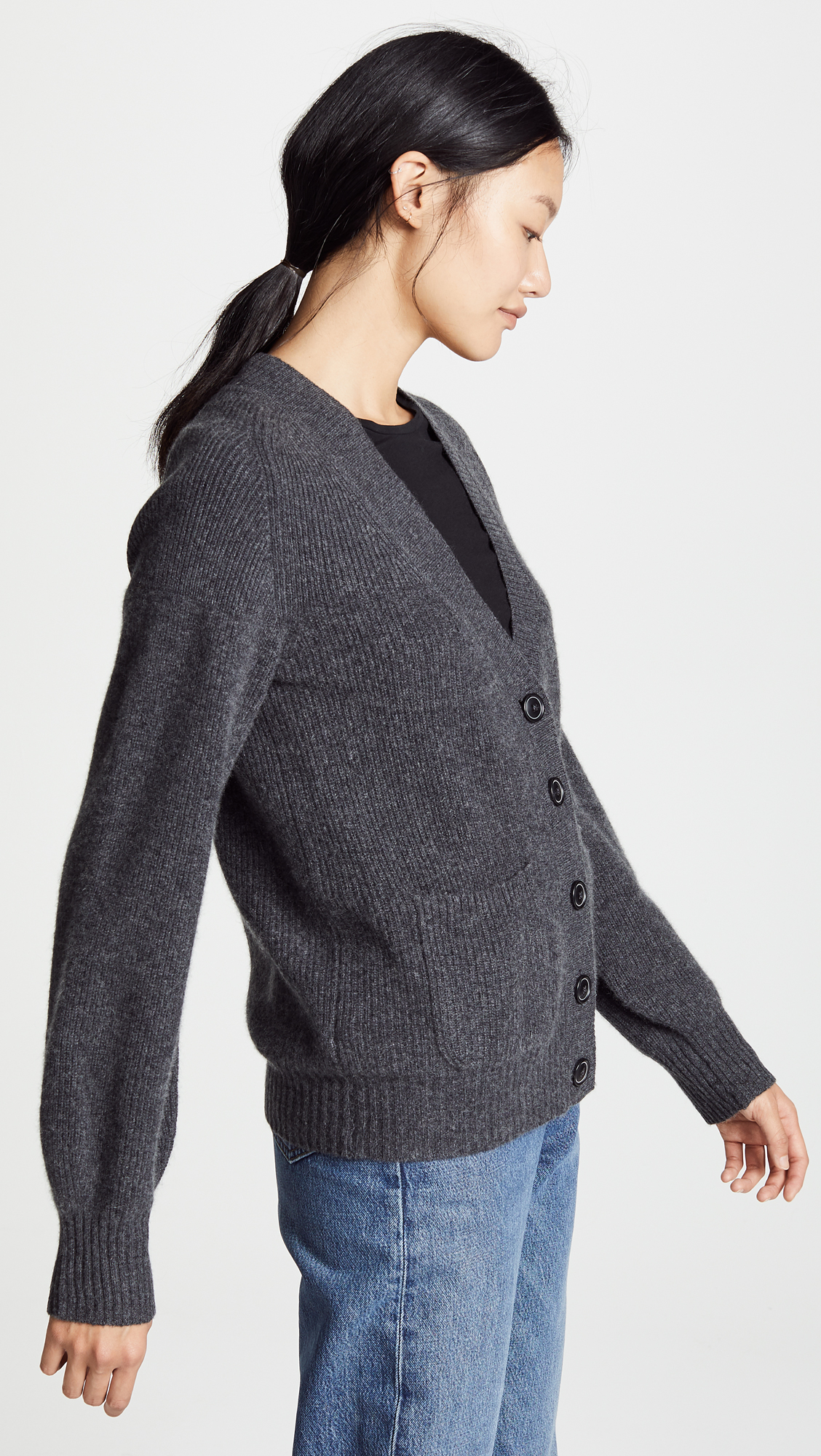 White + Warren Boyfriend Cashmere Cardigan