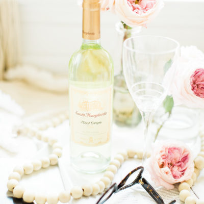 date night - staying in - wine and flowers and glasses - glitterinc.com - GlitterInc-3241