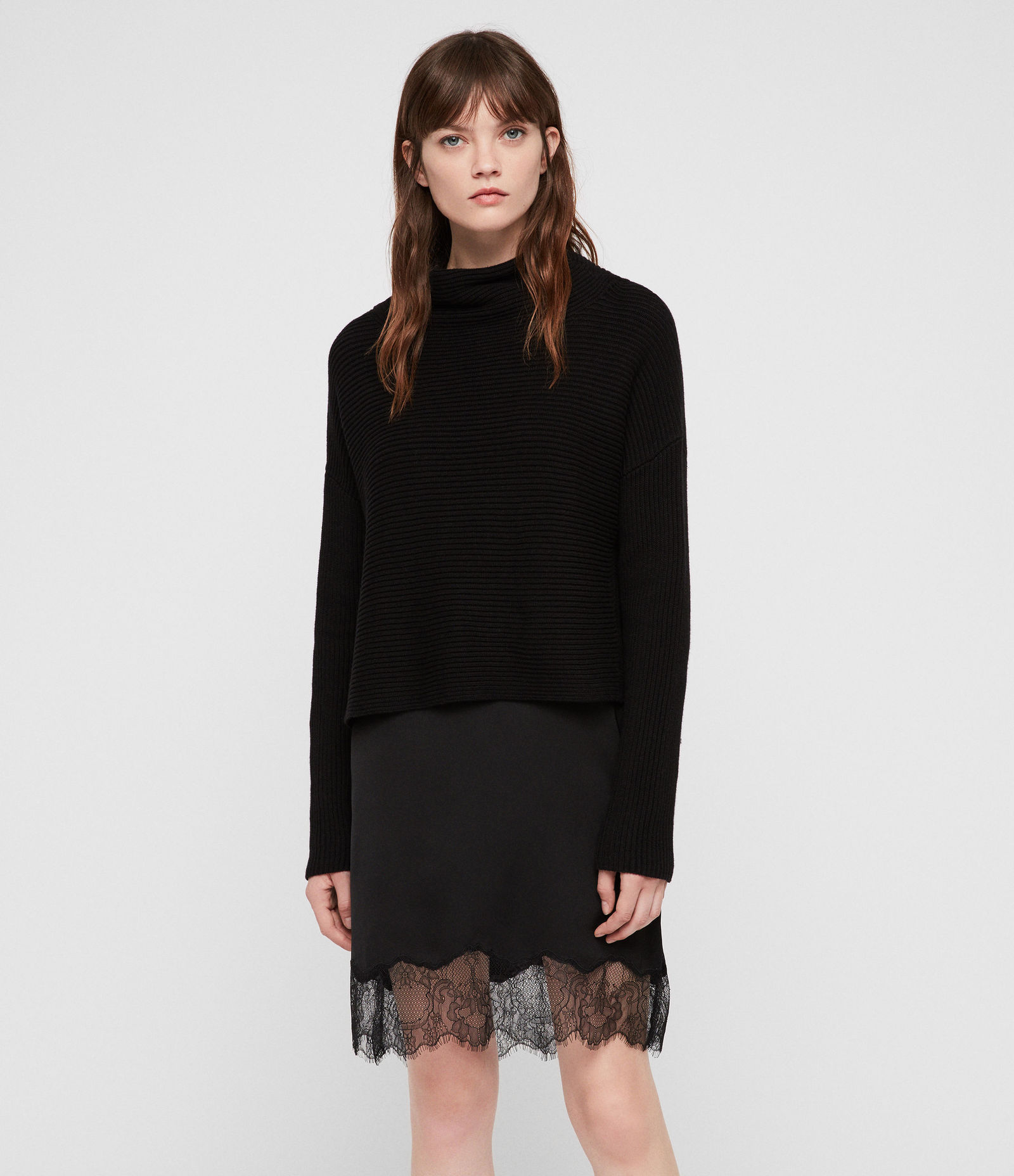 AllSaints Eloise Funnel Neck Dress
