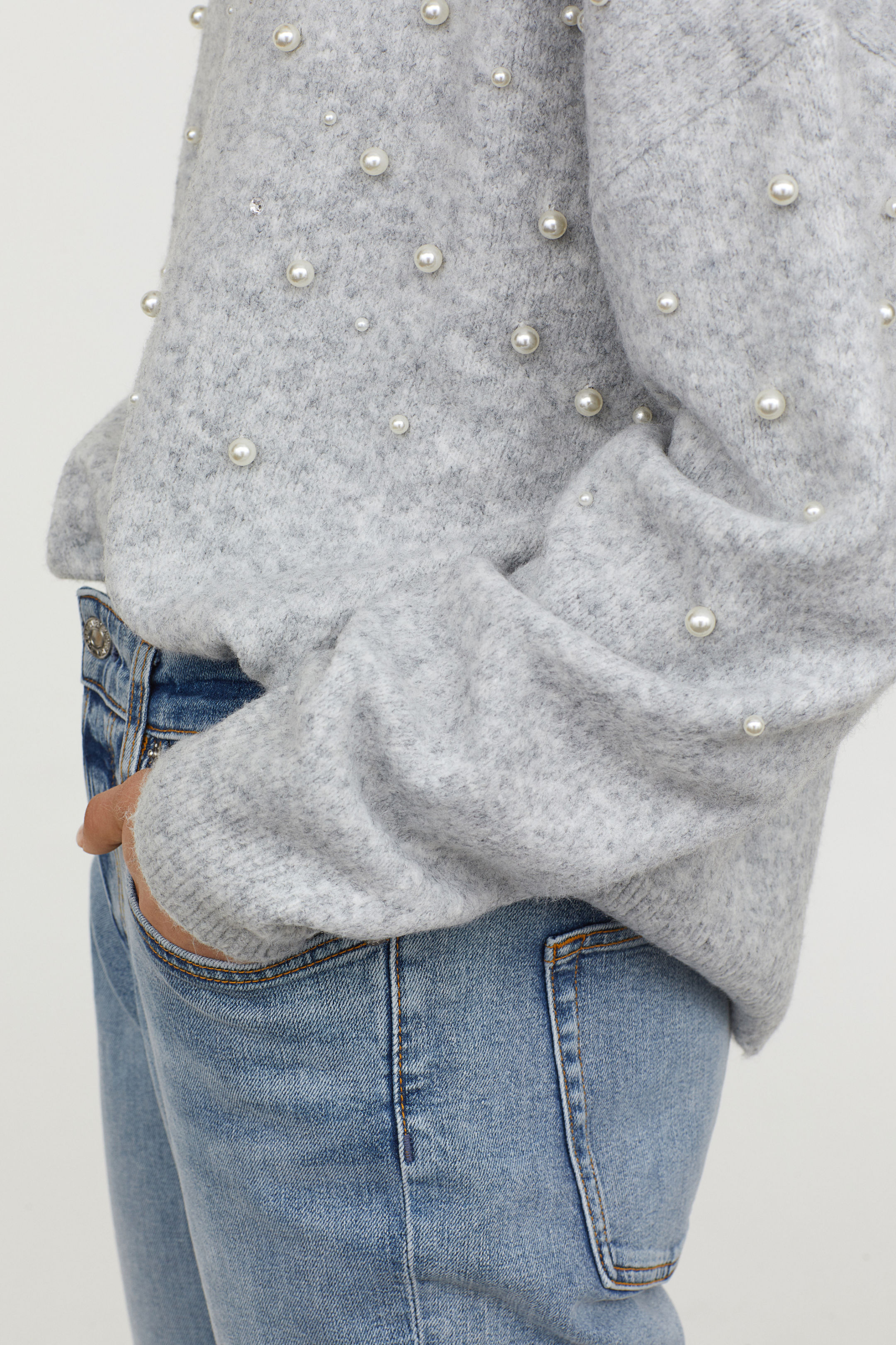 Bead Embroidered Sweater