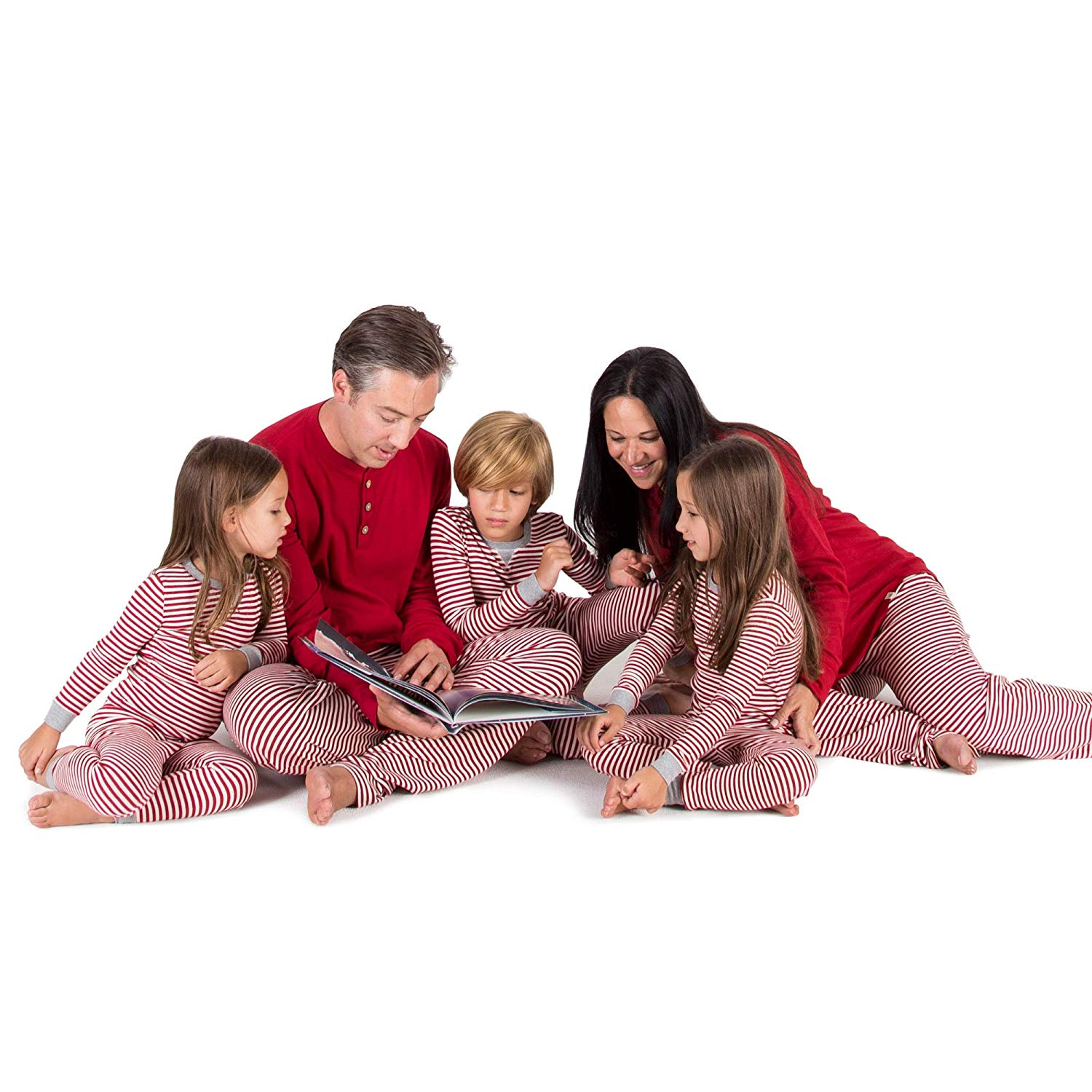 Burt's Bees Baby Family Holiday Jammies in Candy Cane Stripe