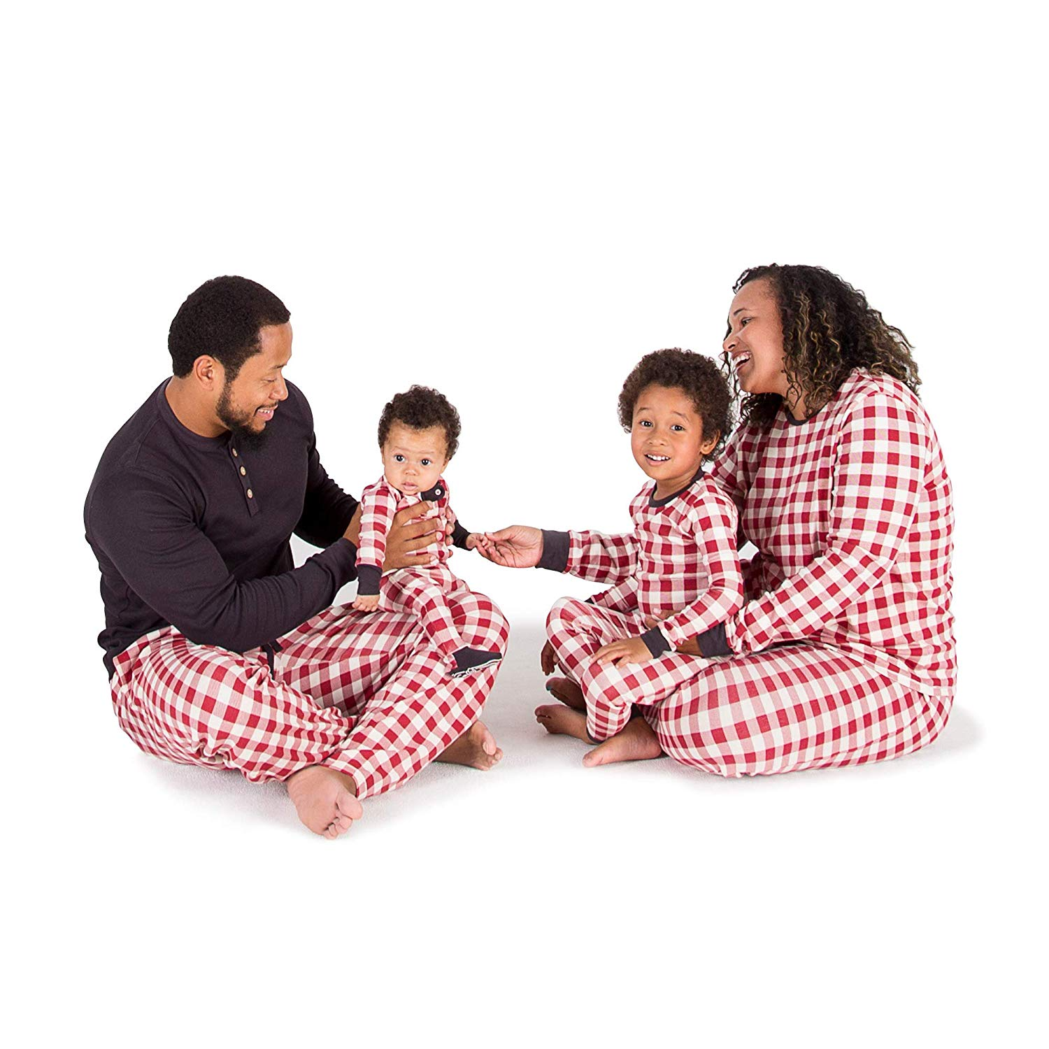 Burt's Bees Baby Unisex Family Holiday Jammies in Buffalo Check