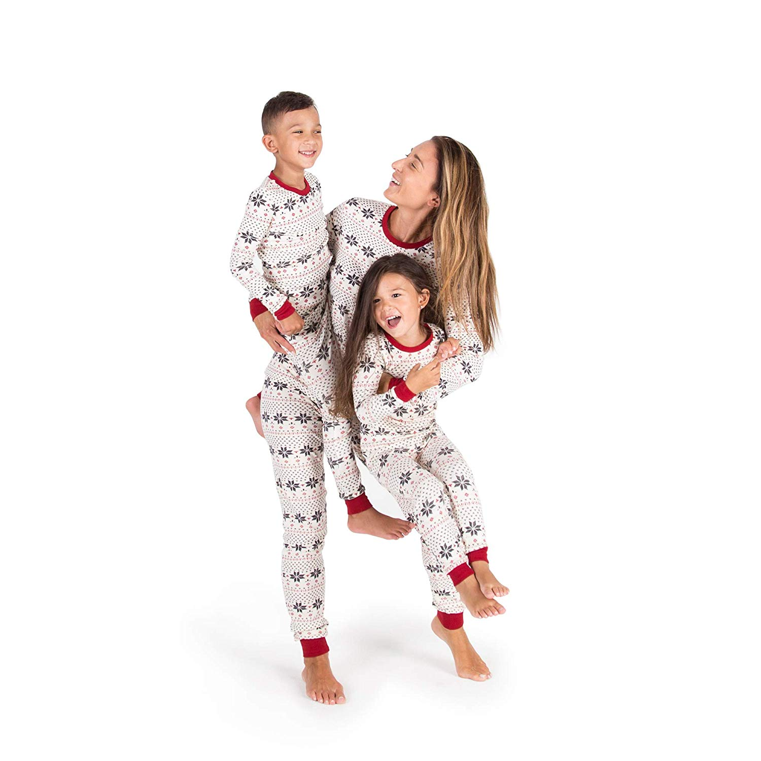 Burt's Bees Holiday Family Pajamas in Handrawn Snowflakes Jammies