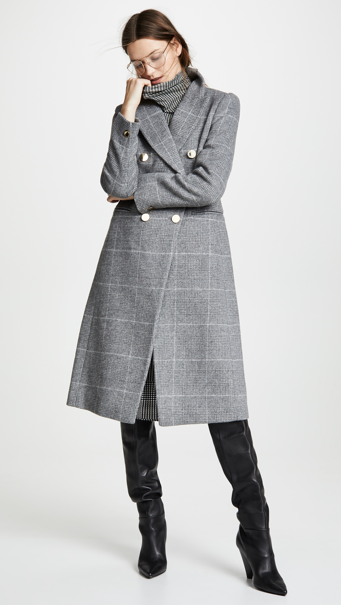 Club Monaco Jemma Plaid Coat