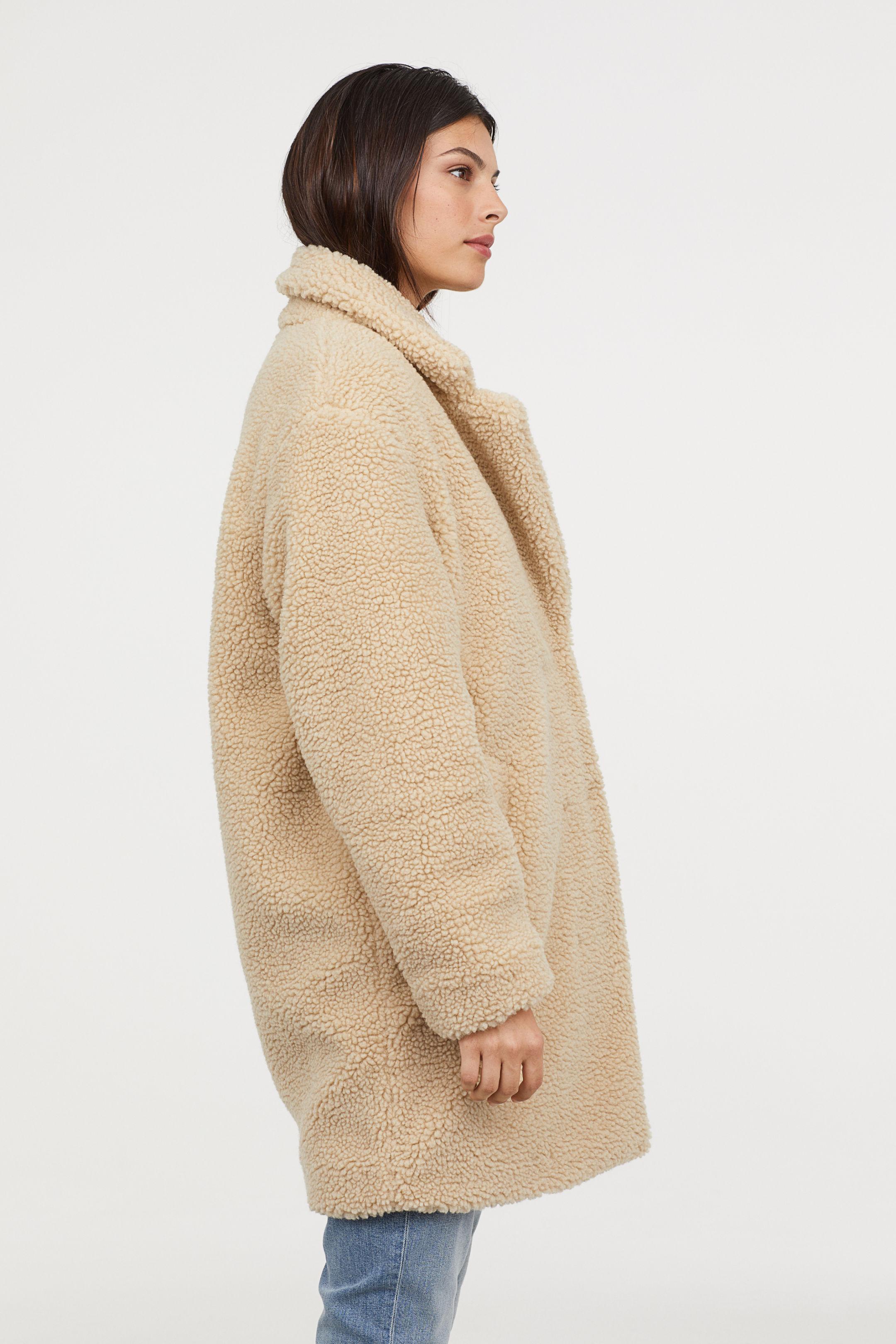 H&M Short Pile Teddy Coat