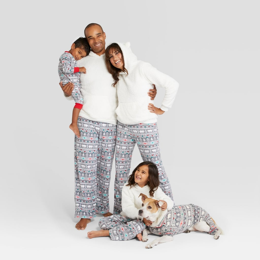 Holiday Fuzzy Bear Fair Isle Family Pajamas Collection