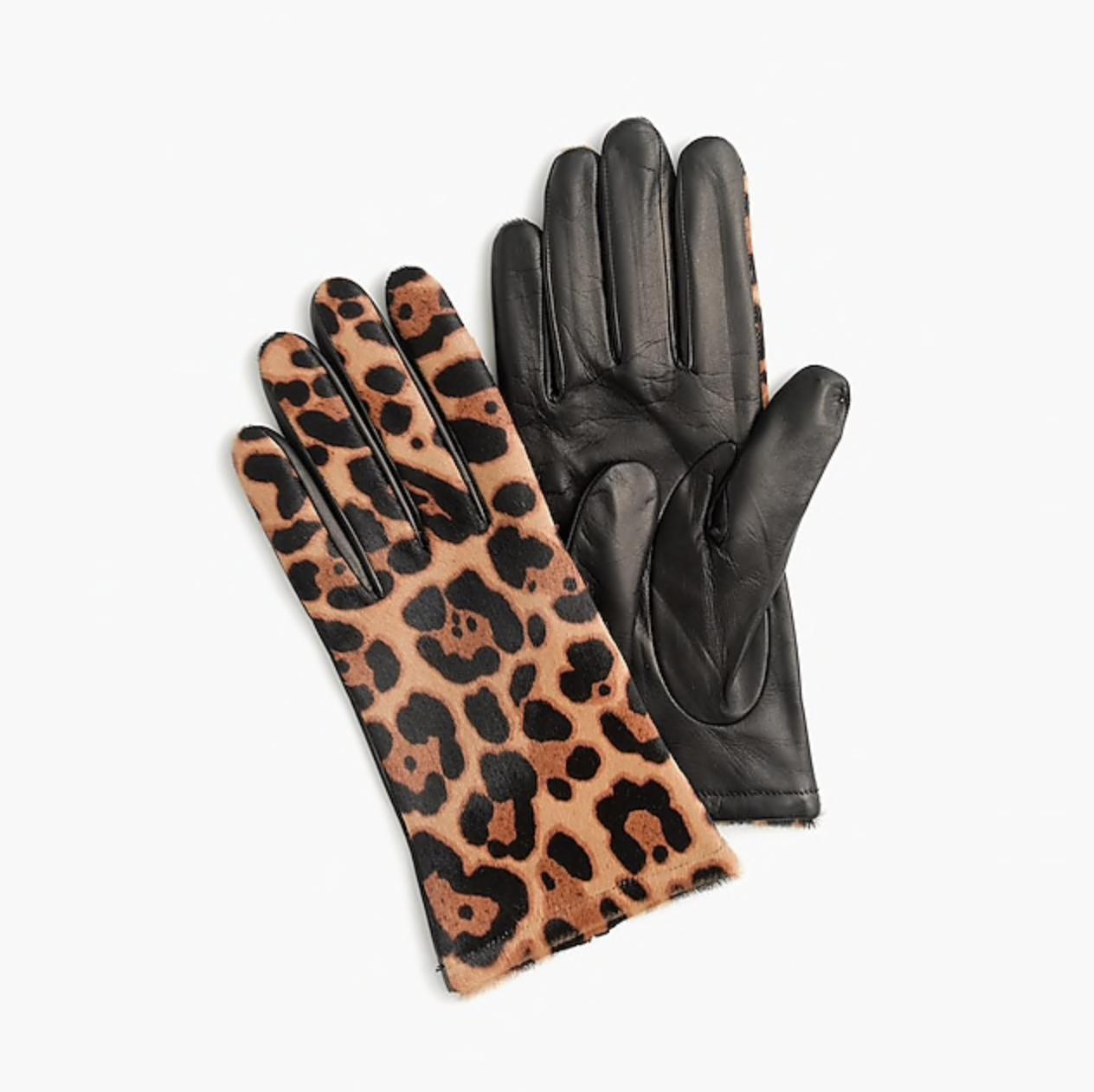J.Crew Italian Calf Hair and Leather Gloves