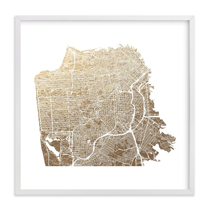 Minted San Francisco Gold Foil Map