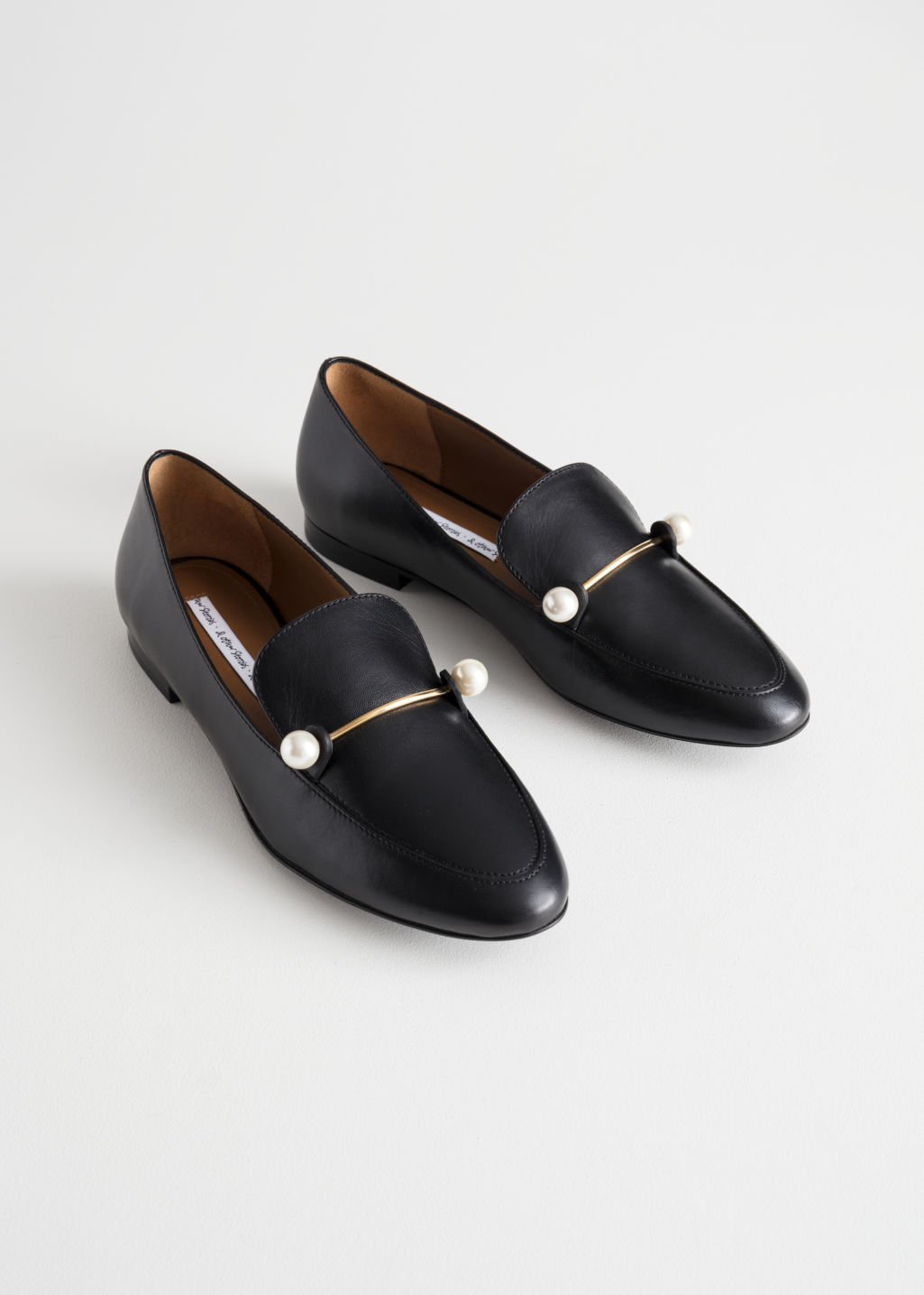 & Other Stories Duo Pearl Buckle Loafers