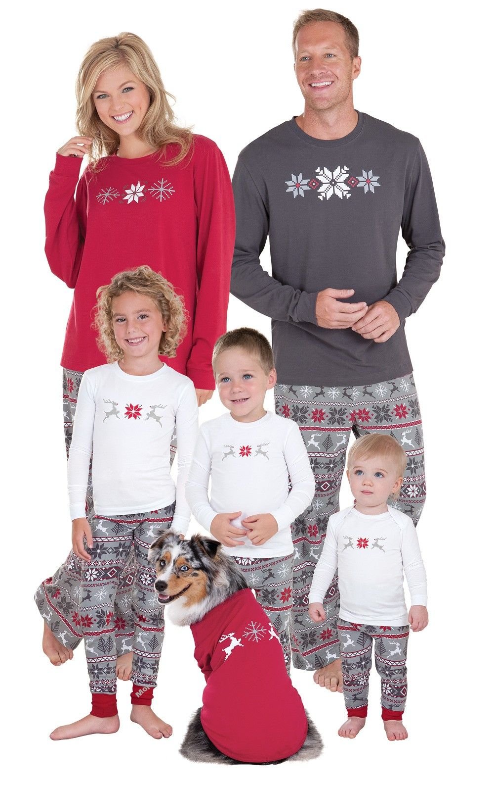 PajamaGram Family Christmas Nordic Pajamas Set