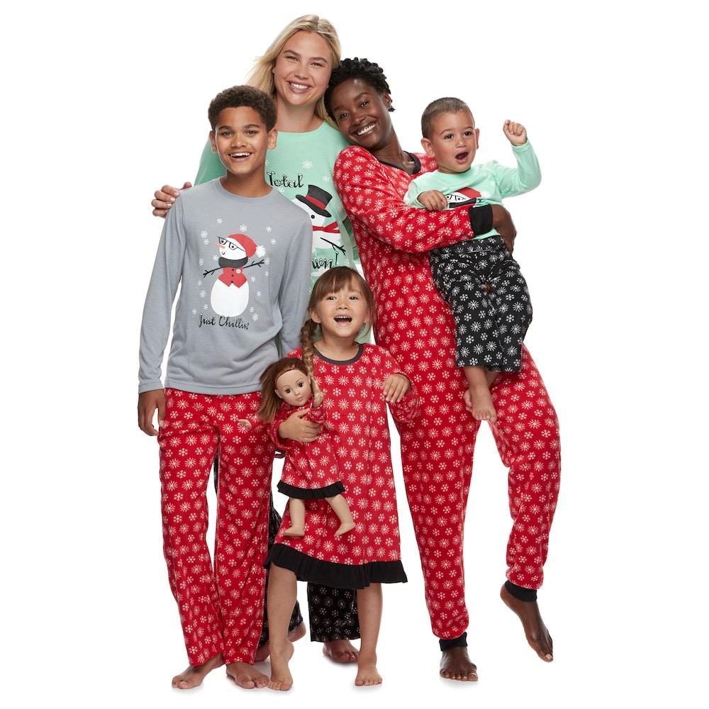 Snowman & Snowflakes Matching Pajamas