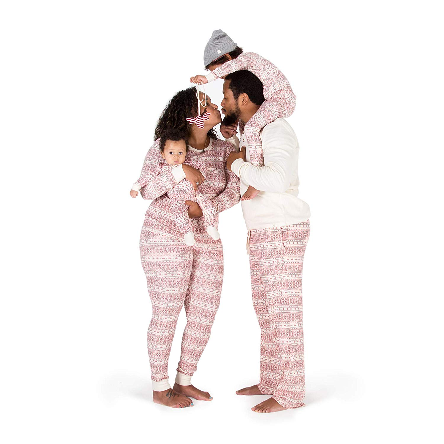 The Cutest Matching Holiday Pajamas For the Entire Family - Burt's Bees Fair Isle Holiday Jammies