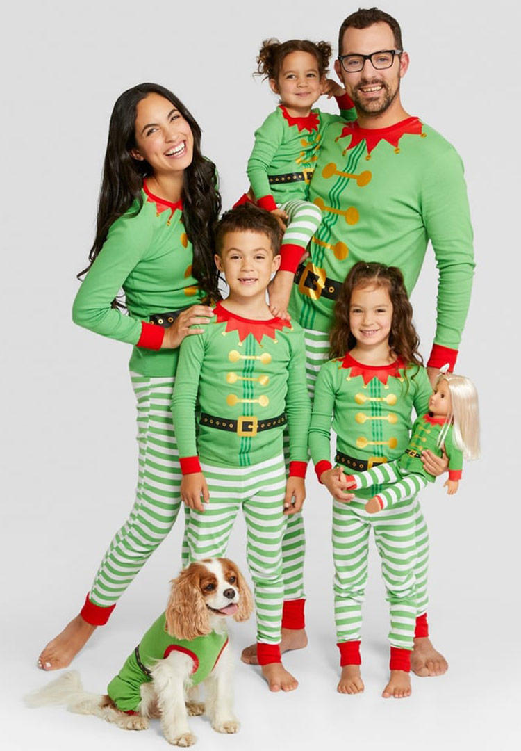 Wondershop Holiday Elf Family Pajamas Collection