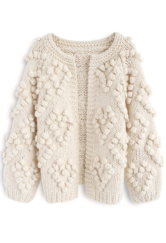 CHICWISH Knit Your Love Cardigan in Ivory (Also available on Amazon with free Prime 2-day shipping!)