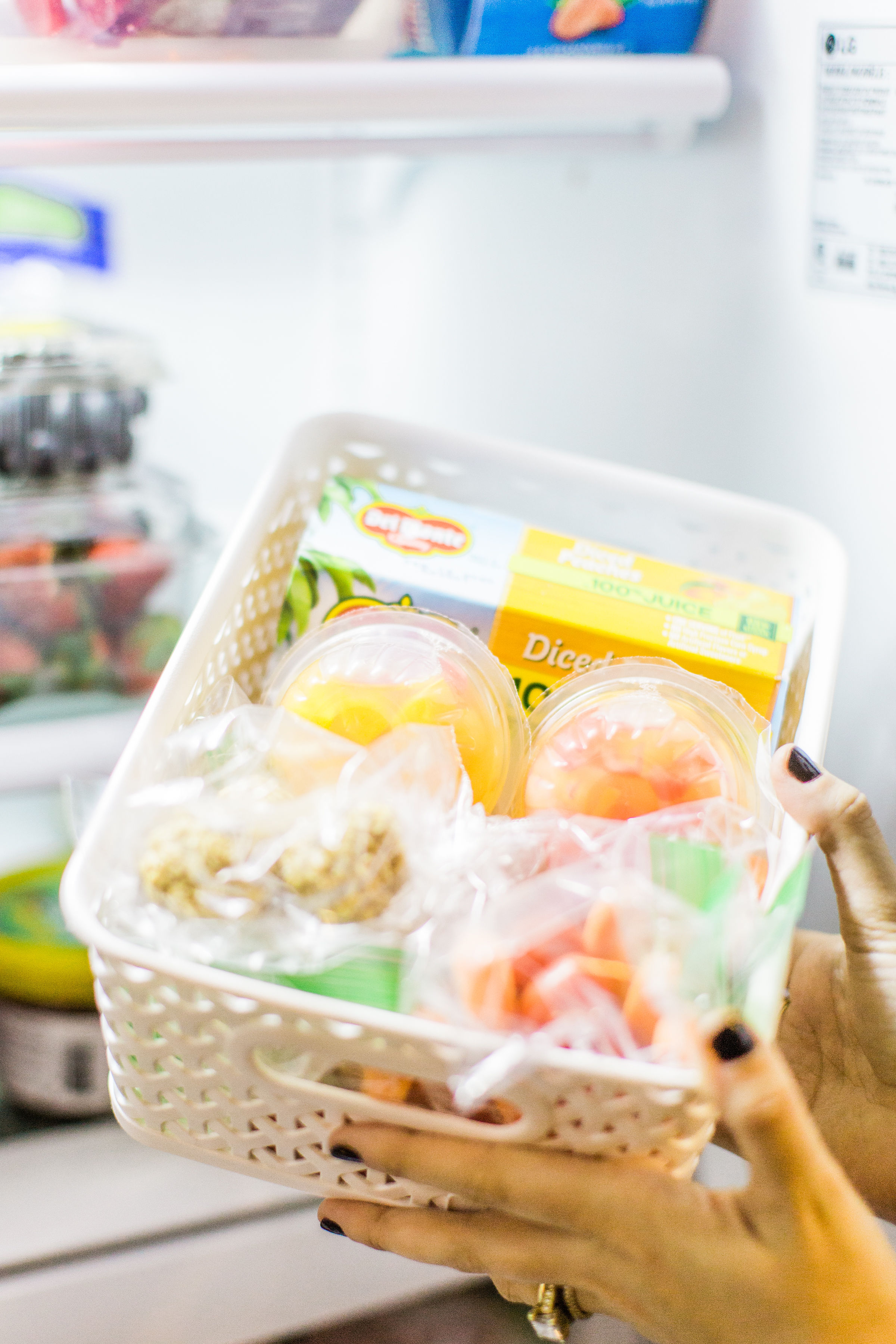 Looking to simplify snack-time for your family? Create these healthy snack bins, a.k.a., a healthy snack station, stocked with awesome, easy, portable snacks kids and grown-ups alike will love! #snacks #snacktime #healthysnacks #snacksforkids   glitterinc.com   @glitterinc