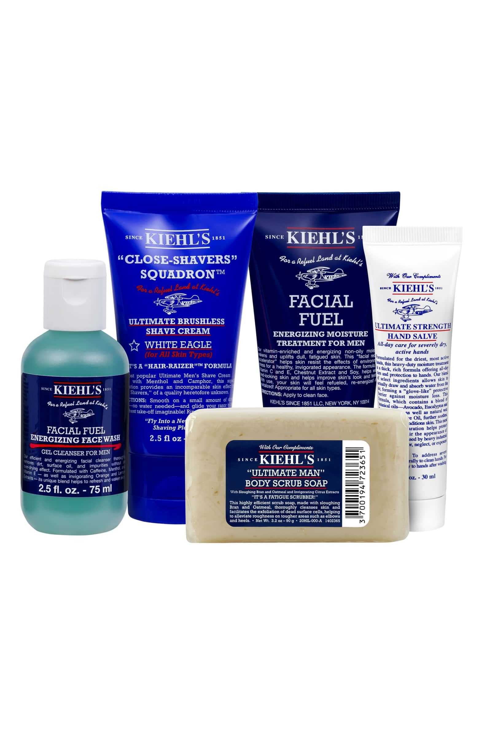 Kiehl's Men's Grab & Go Essentials Set
