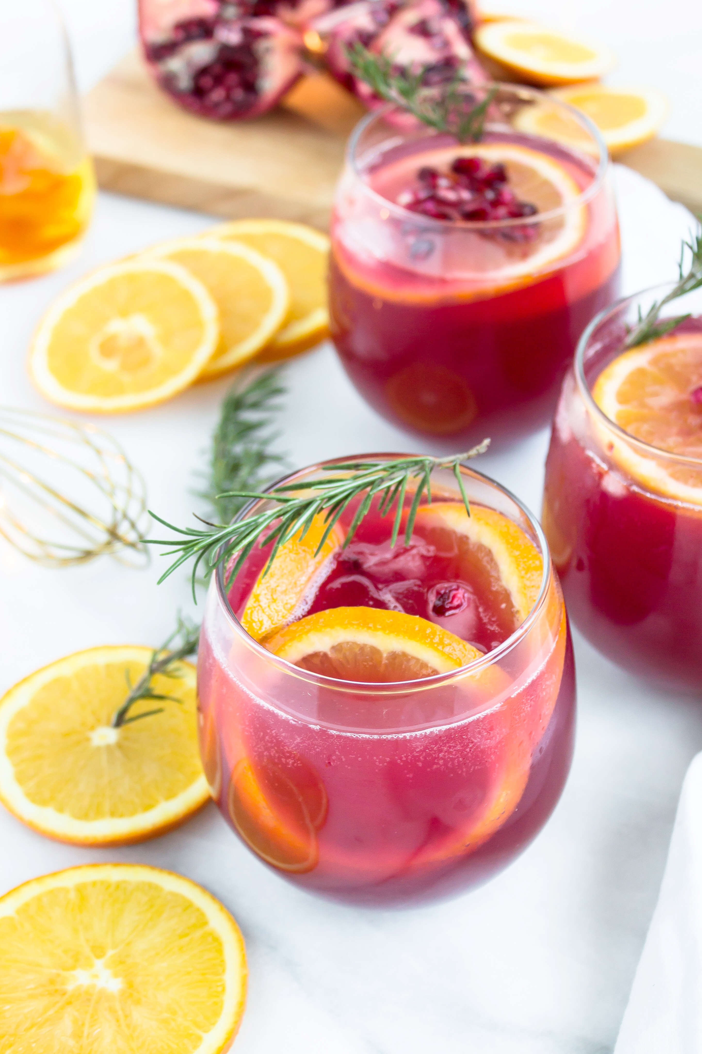 Sparkling Pomegranate Punch Cocktail